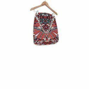 Bash Beaded Aztec Skirt 0